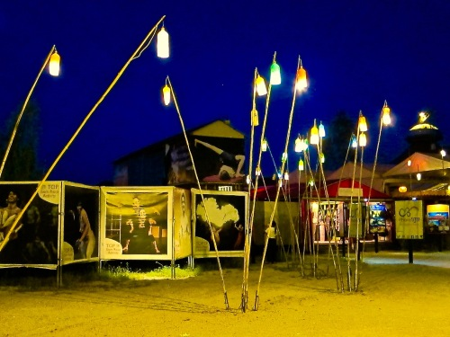 The midway at Phare, the Cambodian Circus.