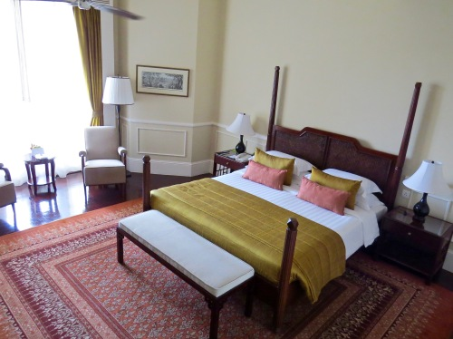 Our room in the original 1930's building of the Raffles Grand Hotel d'Angkor.