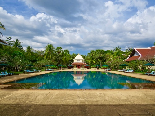 Raffles pool is the largest in Cambodia.