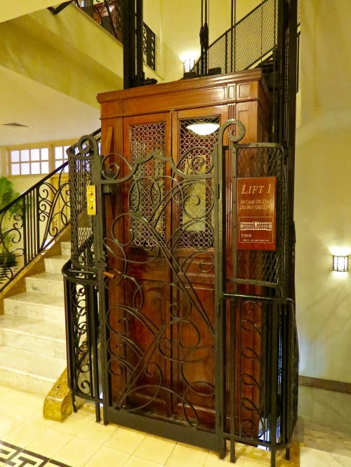 The working, vintage lift.