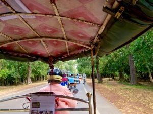 On the road in our tuk-tuk.