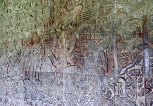 Bas Reliefs at Angkor Wat.