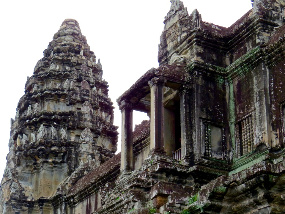 One of the Angkor Wat towers and balconies.