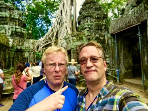 Silly Selfies at Ta Prohm.