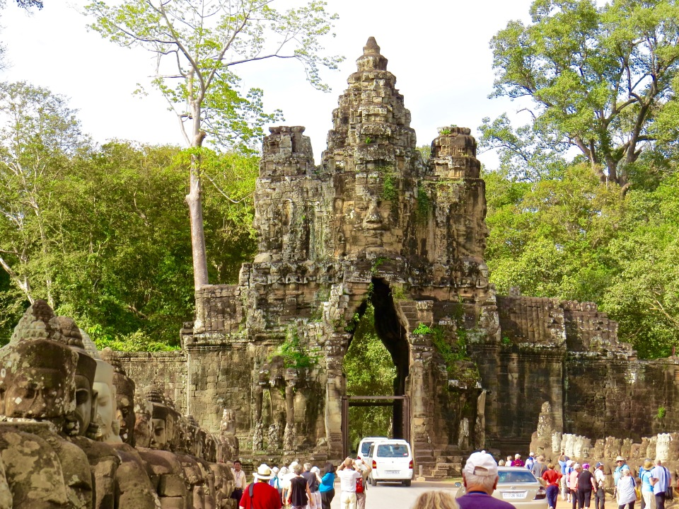 The causeway and entryway to Angkor Thom.
