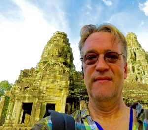 A Sweaty Selfie at Angkor Thom.