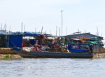 The shore near the boat dock at Tonle Sap Lake.