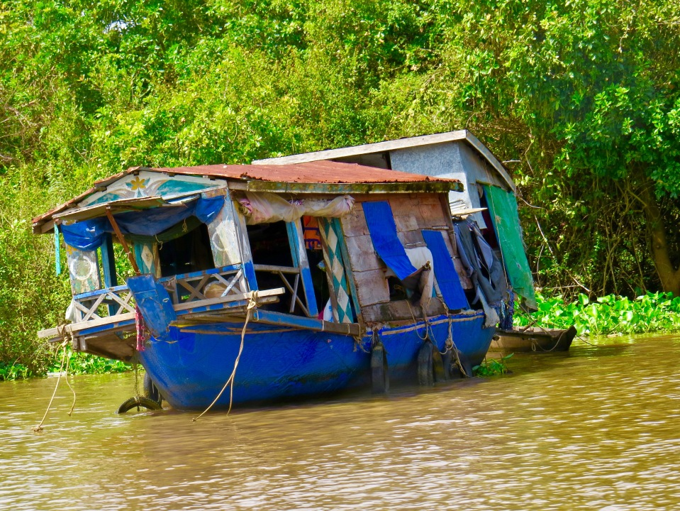 One of many floating homes on Tonle Sap Lake.