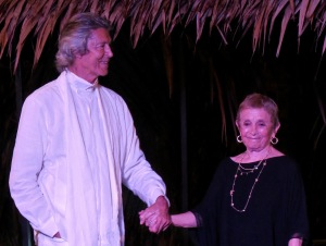 Patricia Birch with Tommy Tune at the Opening Dinner.