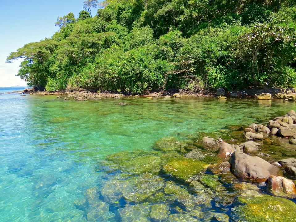 The beach lagoon at Koh Kood, Thailand.