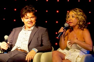 Hunter Foster & Jennifer Cody chat about their careers and relationship during their evening performance.