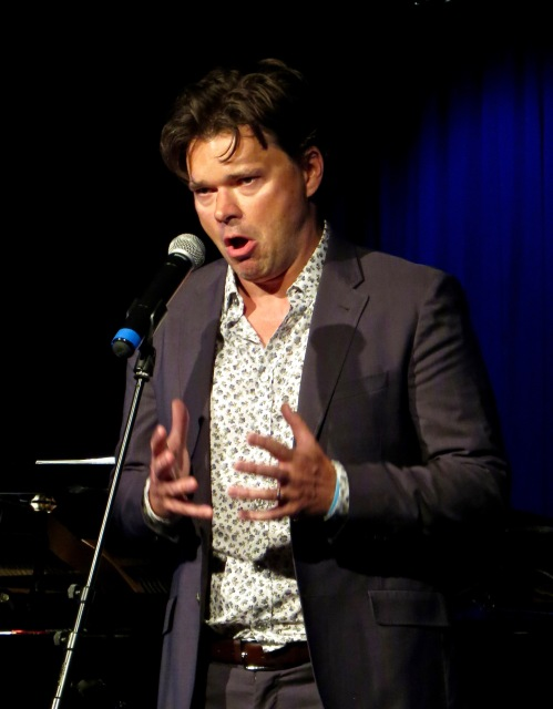 Hunter Foster singing, Empty Chairs at Empty Tables.
