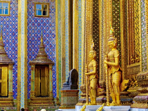 Stunning ornamentation at the Grand Palace.