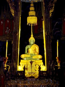 The Emerald Buddha.