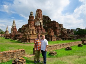 Michael and I at one of the temple ruins in Ayutthaya.