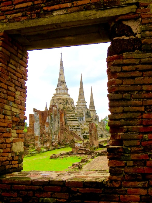Temple ruins in Ayutthaya.