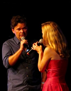 Hunter Foster joined Kerry Butler for a number during her concert.