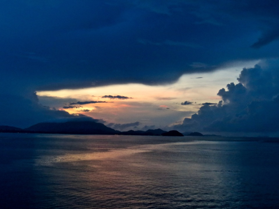 Sunrise off the coast of Koh Samui, Thailand.