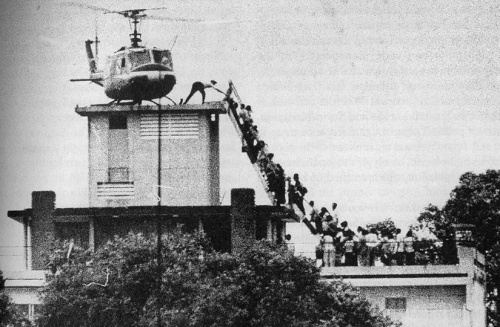 The last helicopter to leave Saigon as the city fell in 1975.