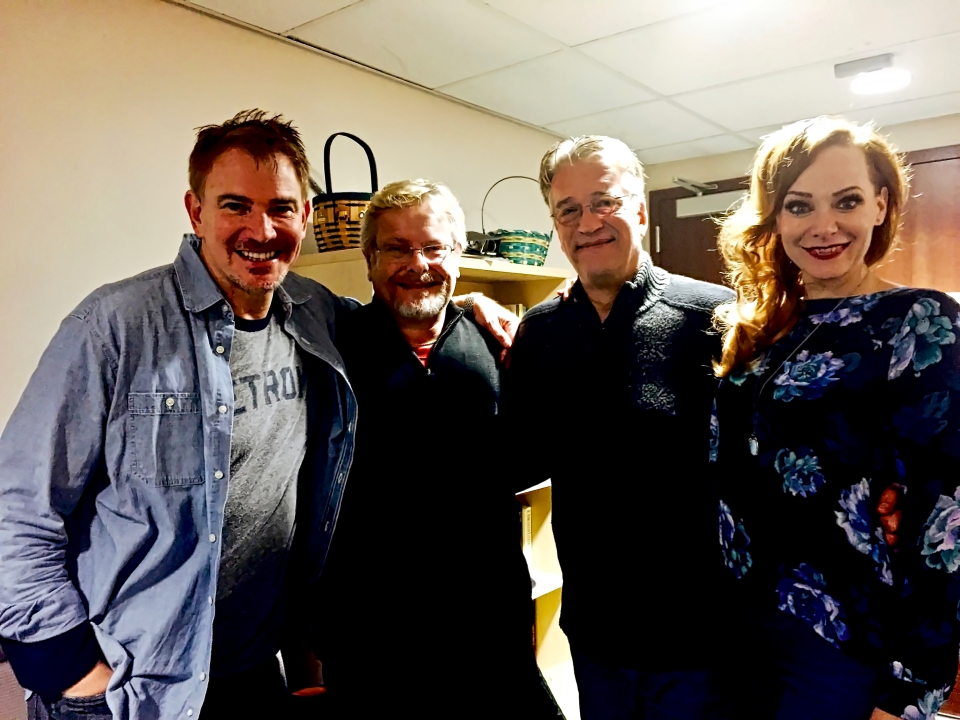 Backstage: Douglas Sills, Michael, Me and Christine Sherrill.