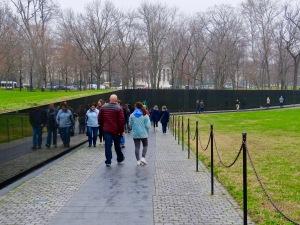 The Vietnam War Memorial.