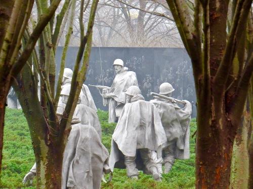 The Korean War Veterans Memorial.
