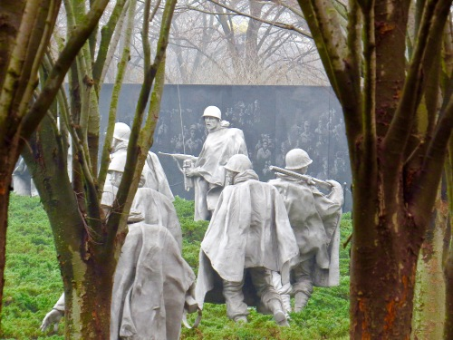 The Korean War Veterans Memorial.