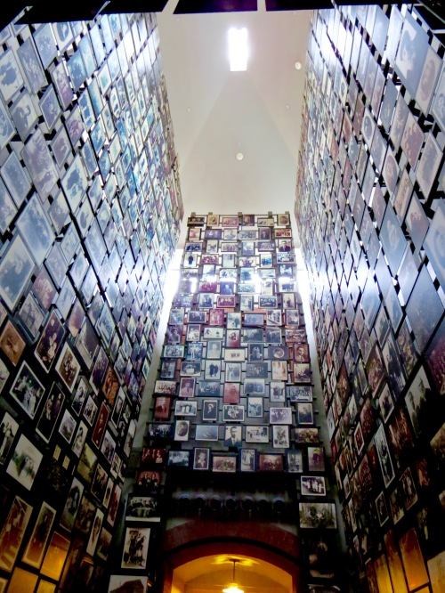The Tower of Faces in the U.S. Holocaust Memorial Museum.
