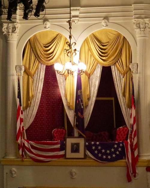 The Presidential Box inside Ford's Theatre.