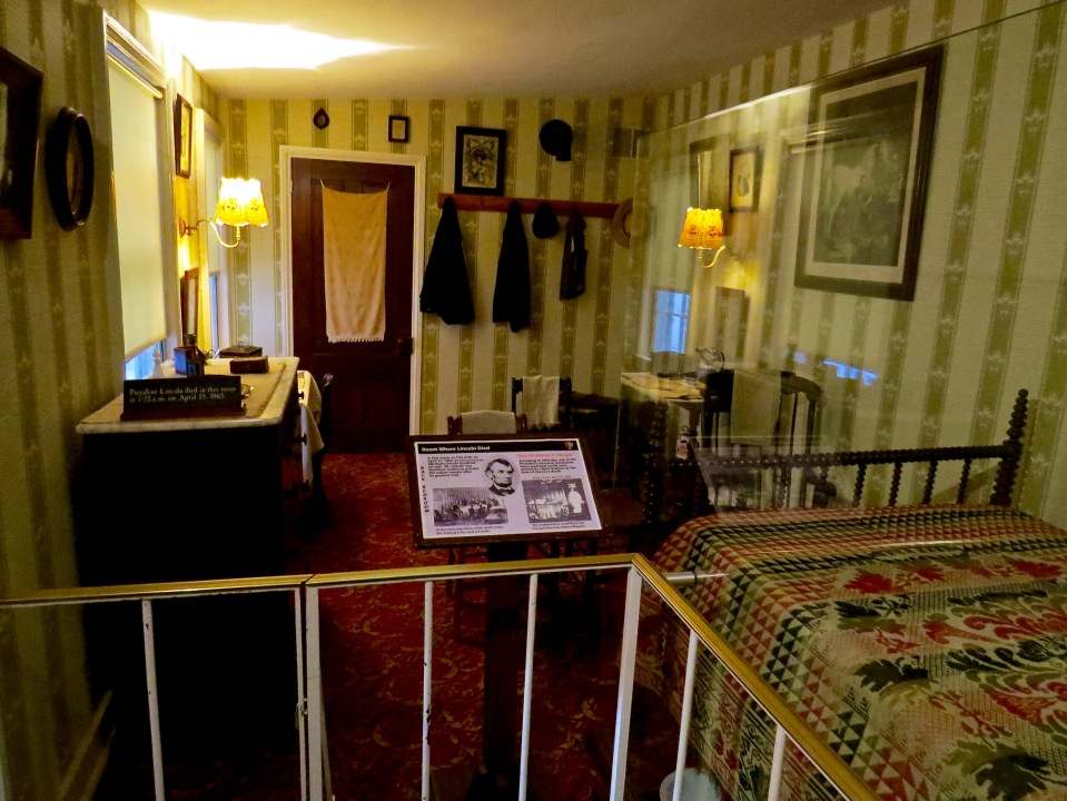 Inside the room where Lincoln died.