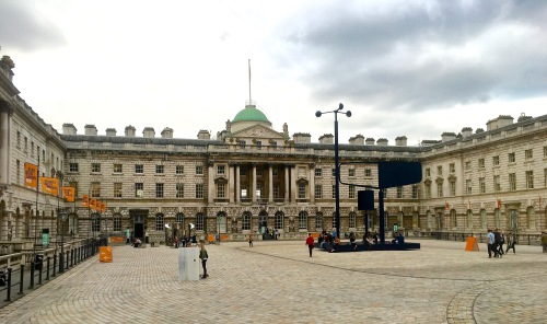 The plaza at Somerset House.