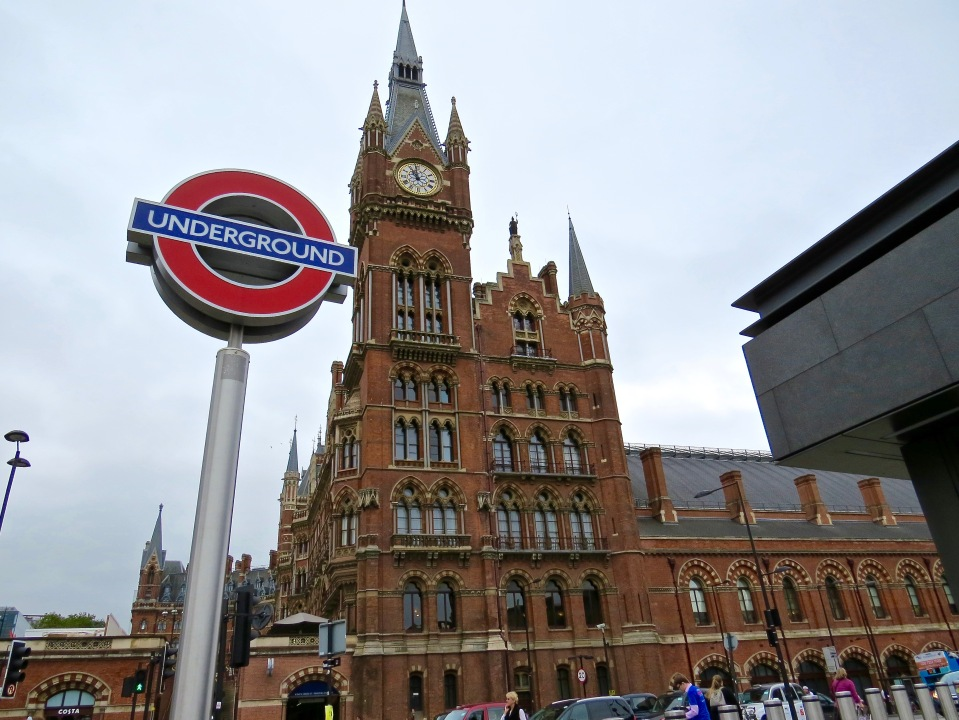 My first view of the St. Pancras Renaissance London Hotel.
