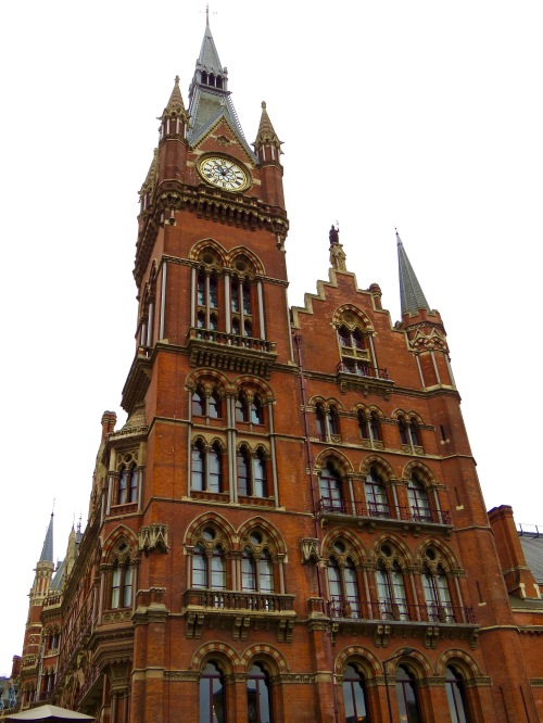 The restored clock tower at St. Pancras International.