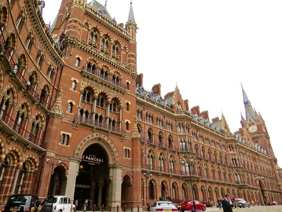 The exterior of St. Pancras Renaissance London Hotel & St. Pancras International.