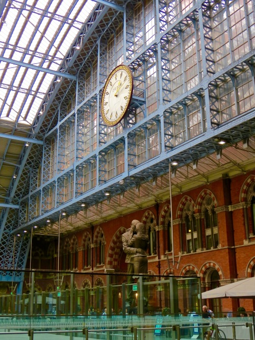 The original design of the train terminal at St. Pancras International was by William Henry Barlow.