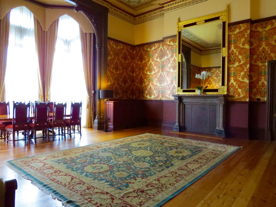 The living area in the Sir George Gilbert Scott Suite.