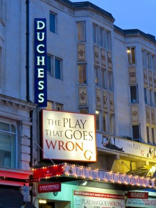The Play That Goes Wrong at the Duchess Theatre.