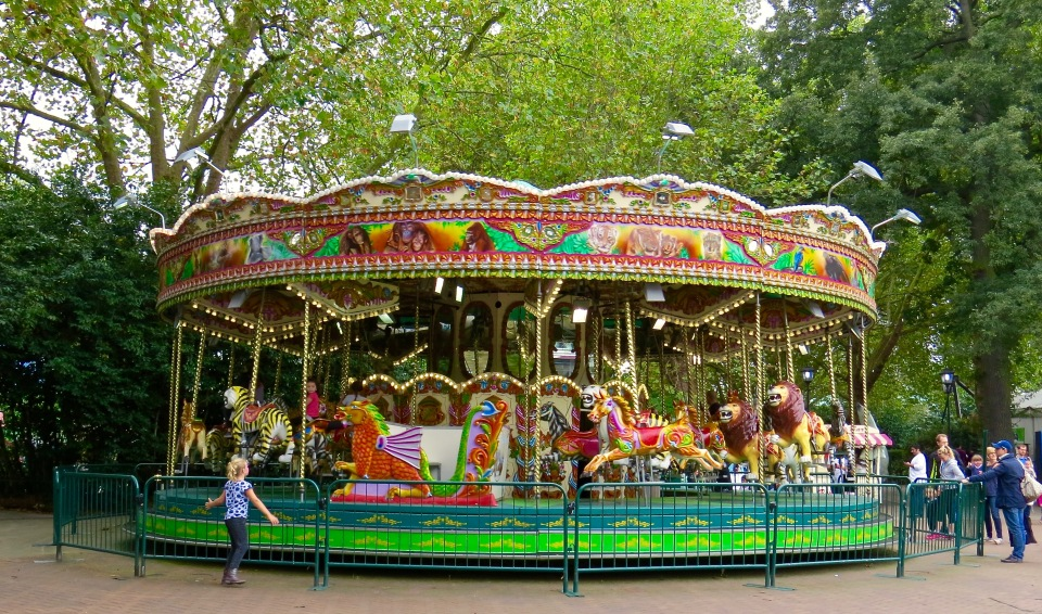 The carousel at the London Zoo.