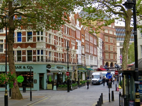 A typical London street.