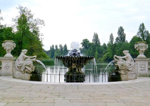 In the Italian Gardens of Hyde Park.