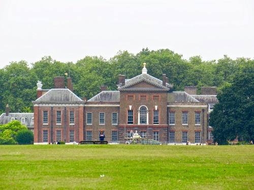 Kensington Palace from the gardens.