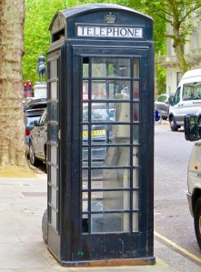 British Telephone Kiosk in the Queen's Gate neighborhood.