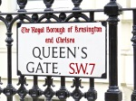 The London neighborhood of Queen's Gate.