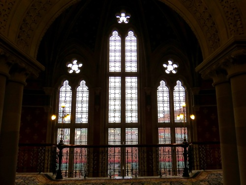 The Gothic Windows of Grand Staircase.