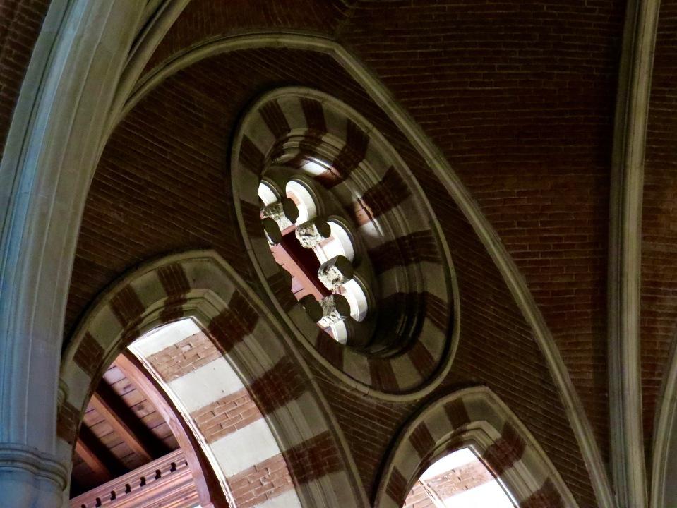 Detail inside All Saints' Anglican Church, Rome.