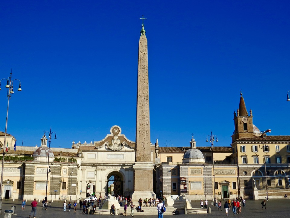 The beautiful Piazza del Popolo.