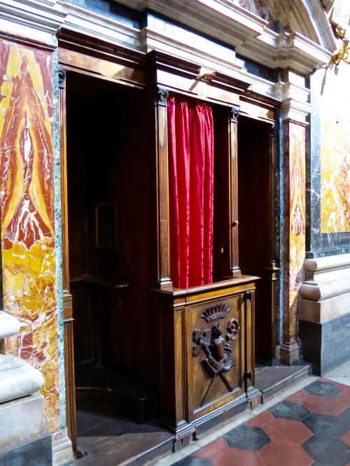 The confessional.