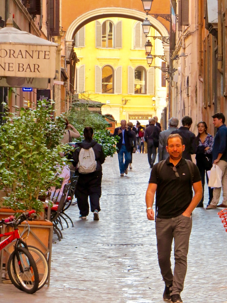 Wandering through the streets of Rome.