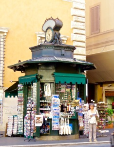 One of many News Kiosks found throughout Rome.