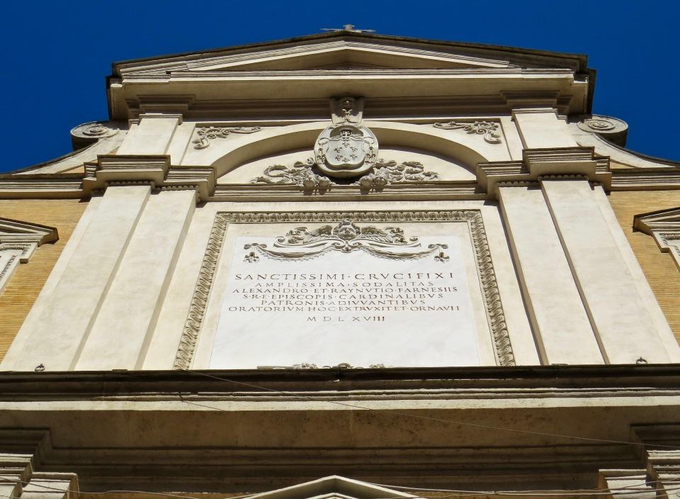 Exterior of Oratorio del Santissimo Crocifisso.